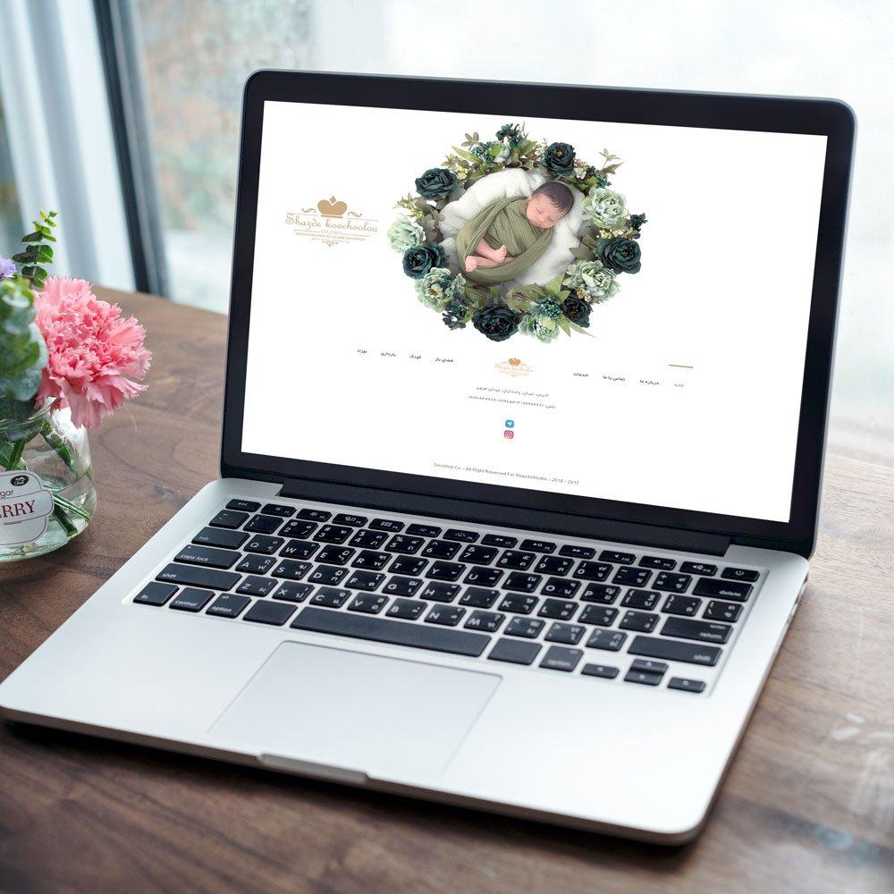 طراحی وب سایت استودیو عکاسی